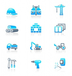 construction icons marine series vector image vector image