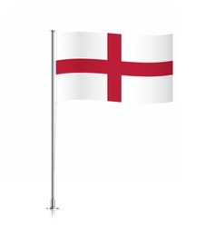 England flag waving on a metallic pole vector