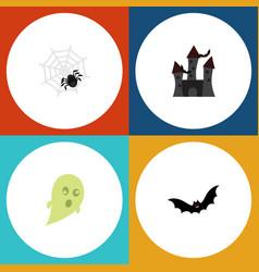 flat icon celebrate set of phantom fortress vector image vector image