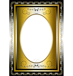 Frame with gold and silver items vector image vector image