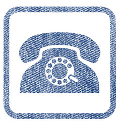 Pulse phone fabric textured icon vector