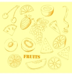 Background with fruit-07 vector image vector image