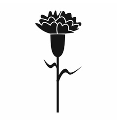 Carnation icon in simple style vector image