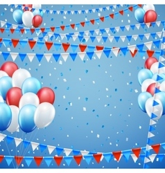 Festive flags background vector image