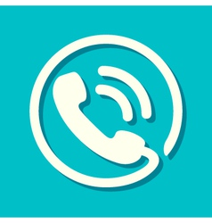 Flat Phone Icon vector image