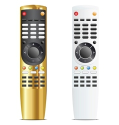 Golden and white remote control vector image vector image