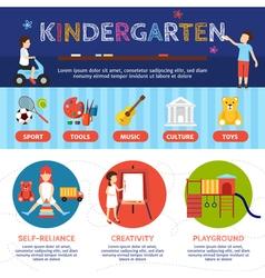 Kindergarten Infographic Set vector image vector image