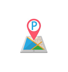 parking map pointer flat icon mobile gps vector image vector image
