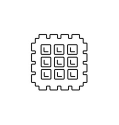 waffle line icon sign on vector image vector image