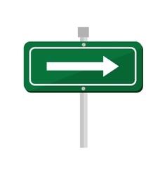 arrow road sign green icon vector image