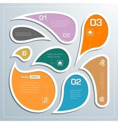 Modern business bubble speech template style vector image