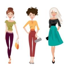 Fashionable girl vector image vector image