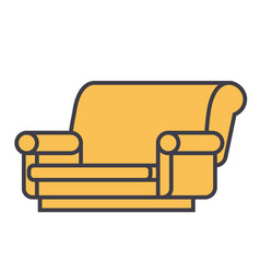 sofa concept line icon editable stroke vector image vector image