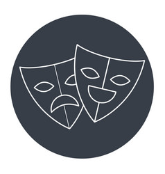 theater masks isolated icon vector image