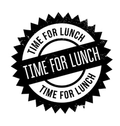 Time for lunch stamp vector image vector image