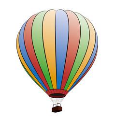 A sketch color hot air balloon vector
