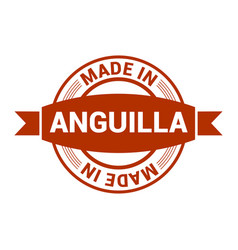 anguilla stamp design vector image