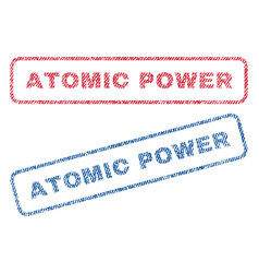 atomic power textile stamps vector image