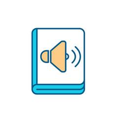 Audiobooks rgb color icon vector