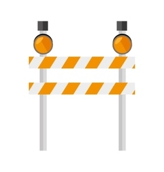 barrier warning lights sign icon vector image