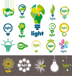 Biggest collection of logos lamps vector