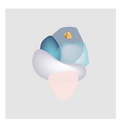 Chic canvas print design gem stones background vector