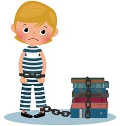 Child prisoner vector image