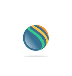 circle sphere technology abstract logo vector image