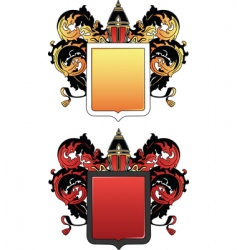 Coat of arms 2 colored vector