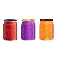 Compote jar vector