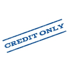 Credit Only Watermark Stamp vector image