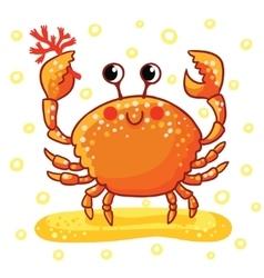 Cute cartoon Sea rab vector image