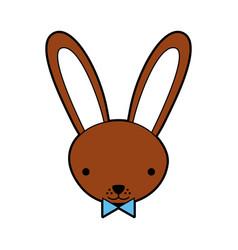 cute rabbit tender character vector image
