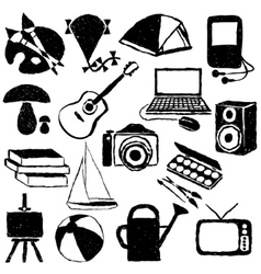 Doodle hobby images vector