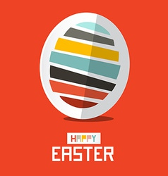 Easter Paper Egg on Red Background vector image
