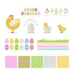 easter set isolated on a white background vector image