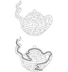 easy teapot maze vector image