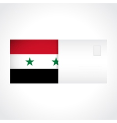 Envelope with Syrian flag card vector