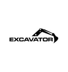 Excavator logo design excavator logo design vector