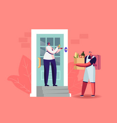 express food delivery courier deliver bag vector image