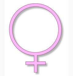 Femininity sign vector