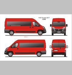 Fiat ducato passenger van l3h2 vector