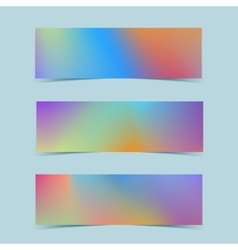 Fluid colorful banners set vector image