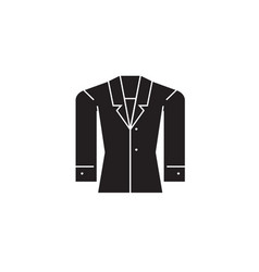 formal jacket black concept icon formal vector image