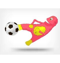 Funny Monster Soccer vector