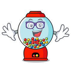geek gumball machine character cartoon vector image