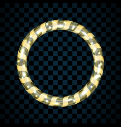 gold circle isolated on transparent black vector image