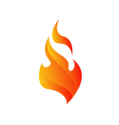 hot fire flames logo icons in white background vector image