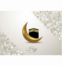 islamic design hajj greeting card template vector image