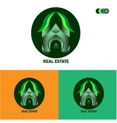 Logo design for real estate free vector
